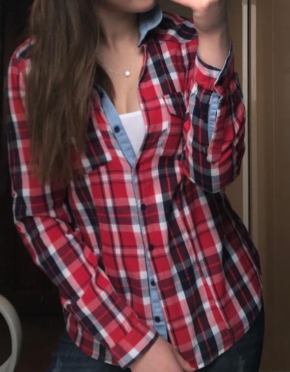 c5fdfb99421516 Damska koszula w czerwoną kratę Reserved rozmiar S w Koszule - Szafa.pl