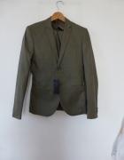 Oliwkowy garnitur H&M