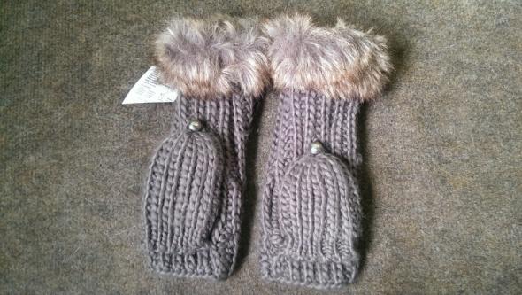 nowe rękawiczki z futerkiem