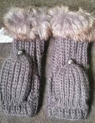 nowe rękawiczki z futerkiem...