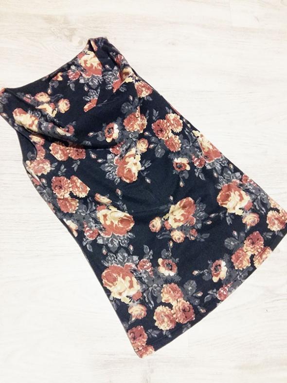 Bluzka Reserved kwiaty dekolt woda