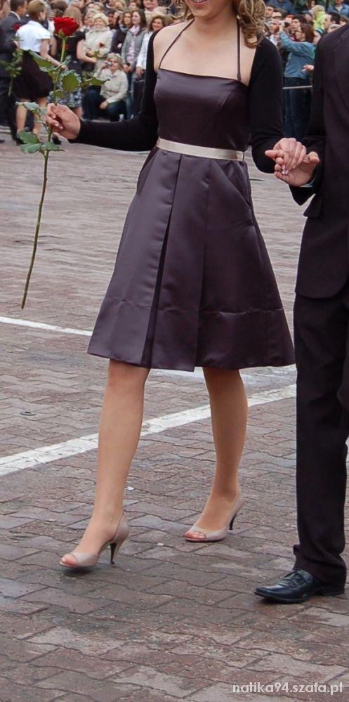 Sukienka elegancka rozkloszowana Mango