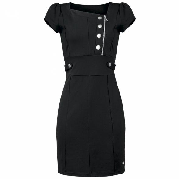 Sukienka czarna militarna