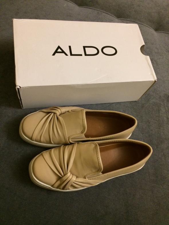 Aldo buty slip on Nude ozdobne wiązanie r 38...