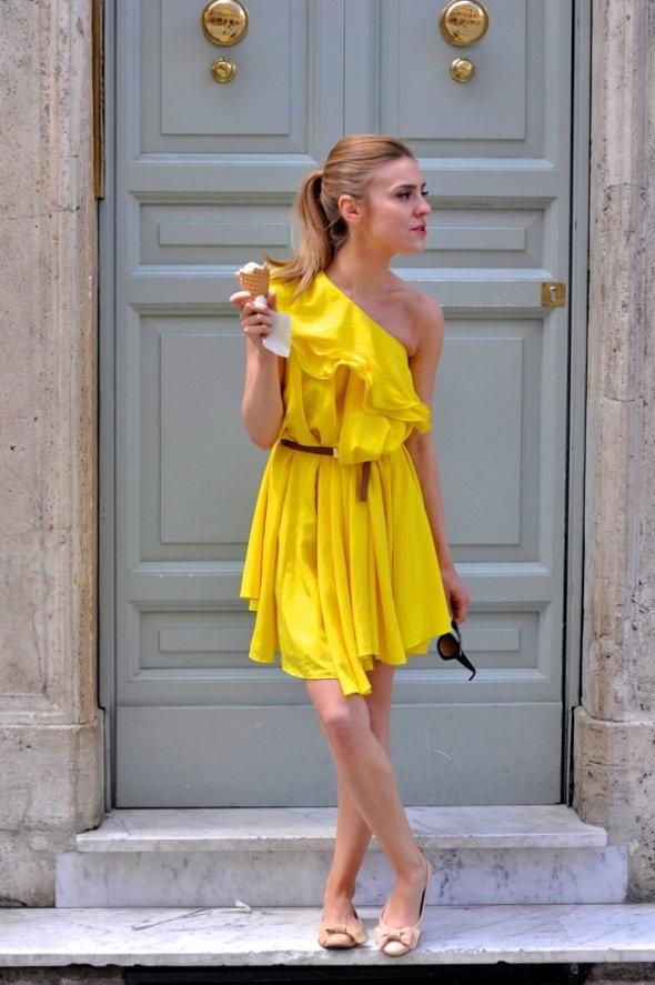 Ubrania Sukienka na jedno ramię
