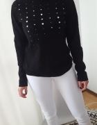elegancki sweter półgolf ITALY M L do pracy WEŁNA
