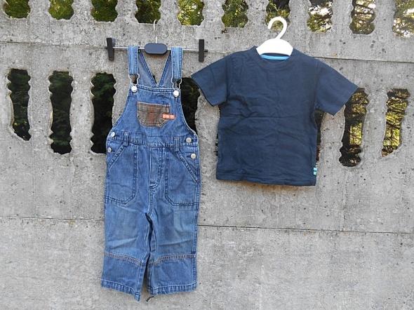 Komplety Zestaw 86 Spodnie ogrodniczki i bluzka