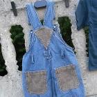 Zestaw 86 Spodnie ogrodniczki i bluzka