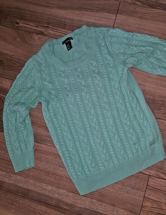miętowy sweter hm xs