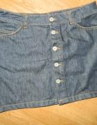 VILA jeansowa spódnica na guziki roz 38...