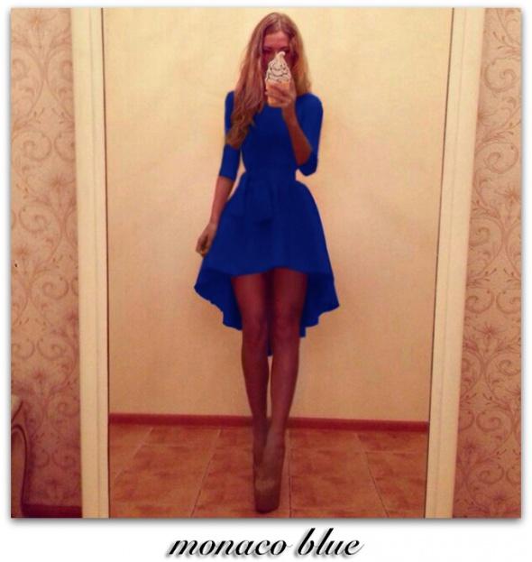 297c46accb ASYMETRYCZNA SUKIENKA MONACO BLUE w Suknie i sukienki - Szafa.pl
