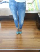 czółenka szpilki błękitne graceland...