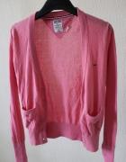 Różowy sweterek bawełniany m...