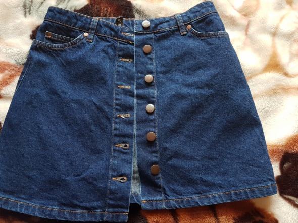 Spódnice Jeansowa spódnica z guzikami