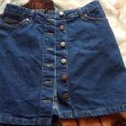 Jeansowa spódnica z guzikami