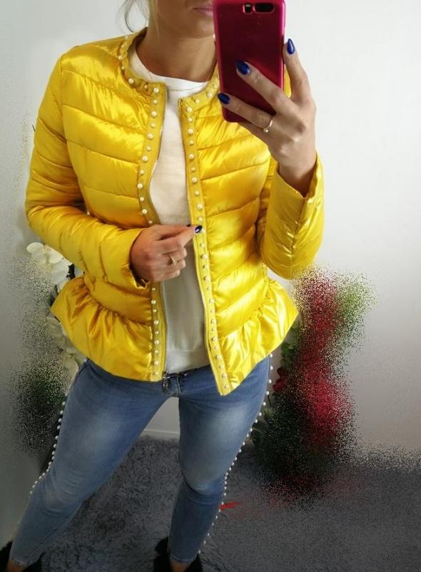 Włoska pikowana kurtka miodowa l xl xxl
