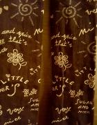 Czarne rajstopki 40 den z napisami