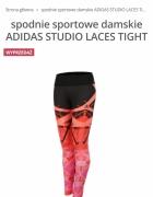 Legginsy Adidas studio power laces rozmiar s lub m...