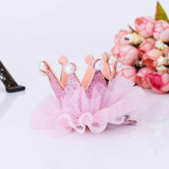 Ozdoby na włosy Spinka korona księżniczka urodziny prezent 3 kolory