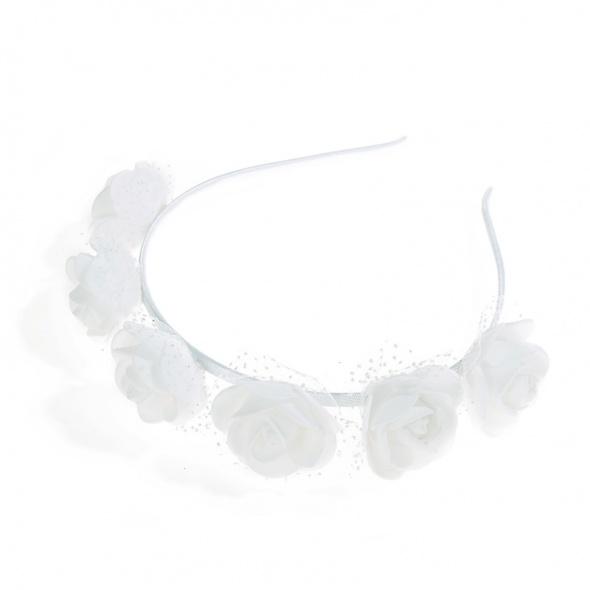 Ozdoby na włosy Opaska do włosów kwiaty sesja komunia wesele