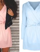 sukienka pastelowa niebieska