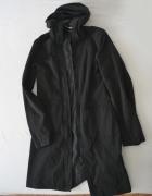 Czarny płaszcz przejściowy h&m roz s