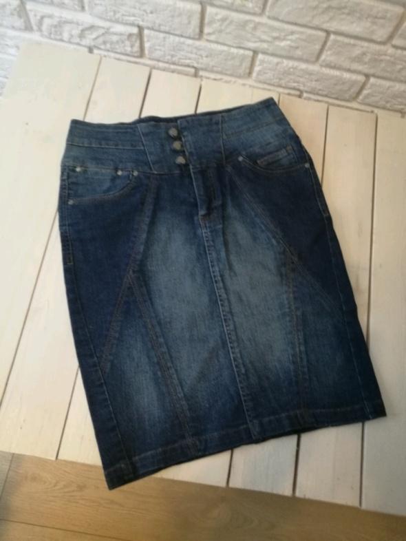 Spódnice Jeansowa spódniczka z wysokim stanem