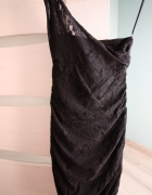 Koronkowa sukienka na jedno ramię rozmiar 34