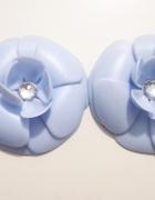 Loft37 Just for fun baby blue błękitne kwiaty przypinki do japonek torebek