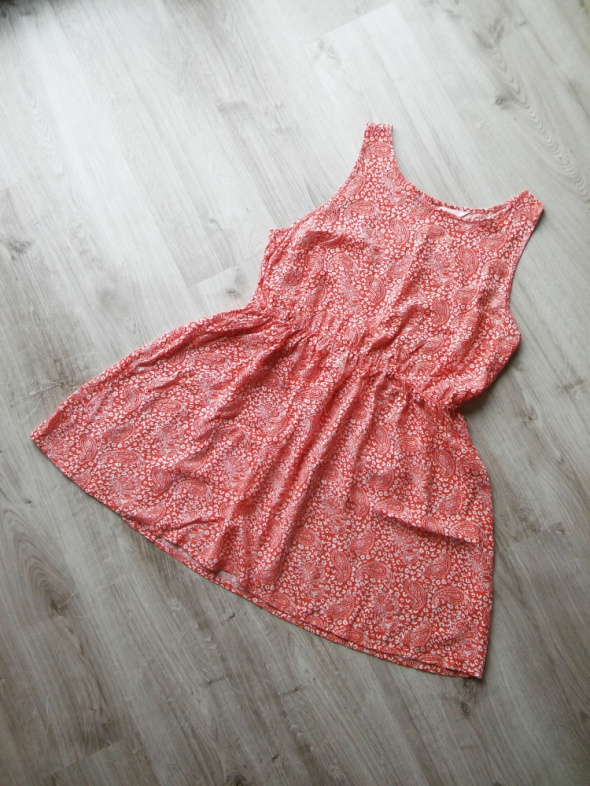 Suknie i sukienki krótka letnia sukienka gumka w pasie rozm 46 XXL