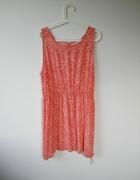 krótka letnia sukienka gumka w pasie rozm 46 XXL