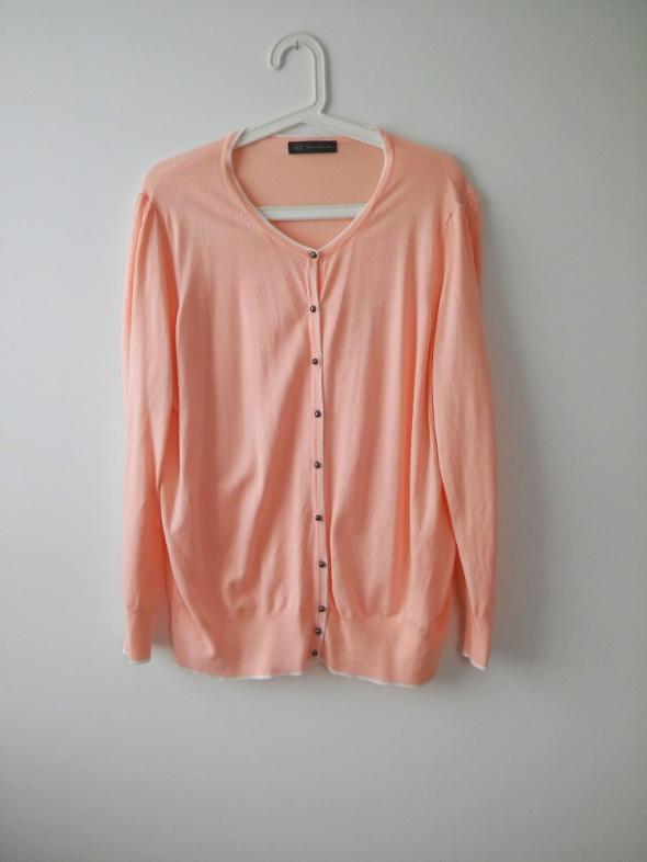 Swetry elegancki różowy rozpinany sweter rozm 46 XXXL