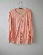 elegancki różowy rozpinany sweter rozm 46 XXXL