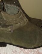 Buty skórzane damskie Promod super cena...