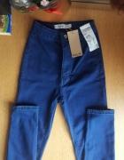 Spodnie jeansy skinny rurki wysoki stan xs s...