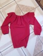 Bluzka czerwona hiszpanka rozmiar S...