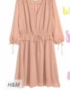Sukienka beżowa h&m...
