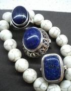 Srebrny pierścionek lapis lazuli 3 odsłony