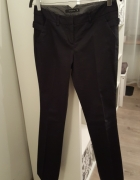 eleganckie granatowe spodnie na kant Reserved...