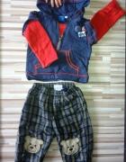 ocieplane ocieplone spodnie 86 bluza GRATIS