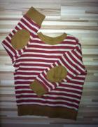 bluza sweter sweterek łaty paski 92 98 od 2 do 3 L