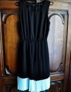 sukienka george plisowana 38 czarna turkus mięta...