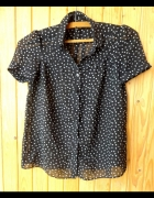 bluzka koszula czarna kropki xs 34 River Island...