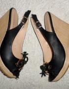 Eleganckie sandały na koturnie Venezzi rozmiar 36