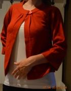 Czerwony sweter narzutka S