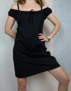 Czarna klasyczna bawełniana sukienka hiszpanka