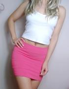 spódniczka mini bandażowa różowa s