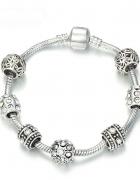 Bransoletka modułowa charms crystal silver 19cm