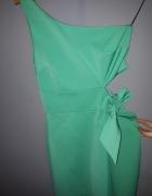 niezwykła sukienka XS na jedno ramię