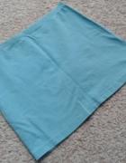 H&M niebieska spódniczka spódnica tuba ołówkowa